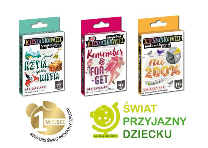 Kieszonkowce - gry karciane i quizy dla dorosłych, młodzieży i dzieci